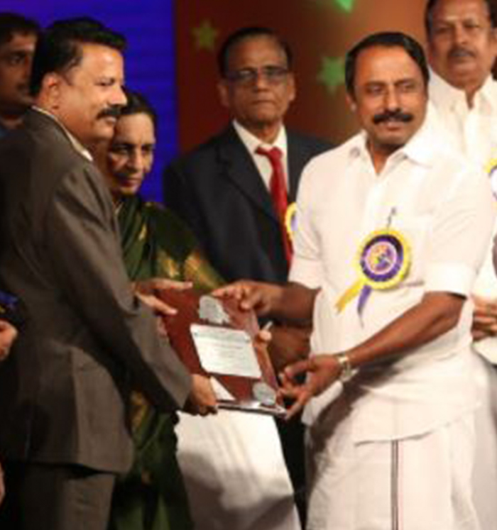 Award from Educational Minister Thiru.Sengottaiyan